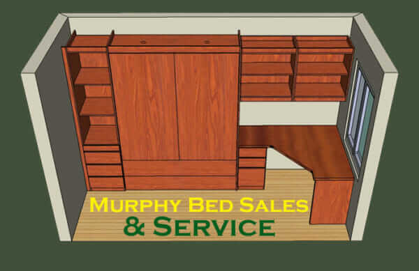 3D murphy bed room rendering example