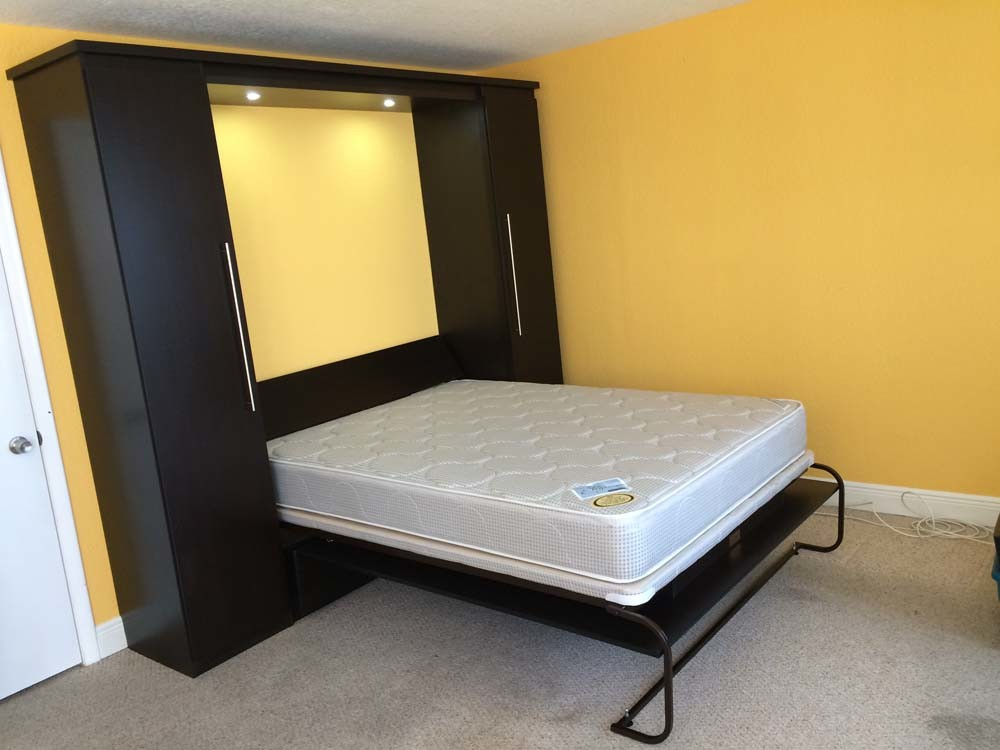 Wengue Contemporary Murphy Bed