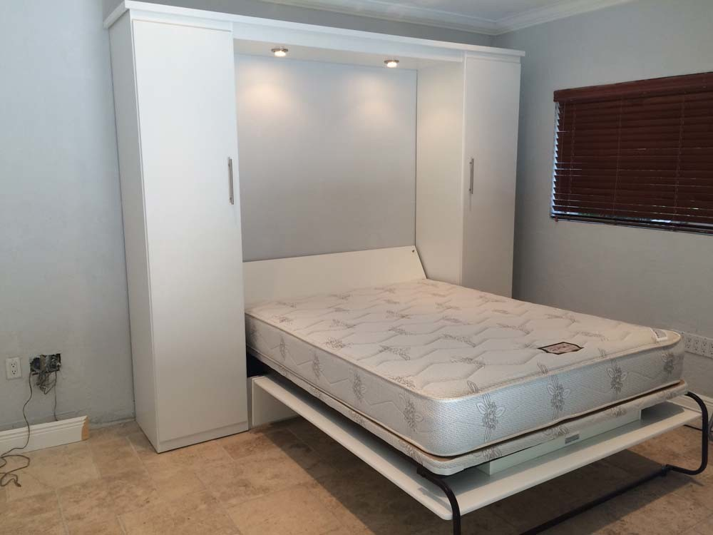 White Contemporary Murphy Bed