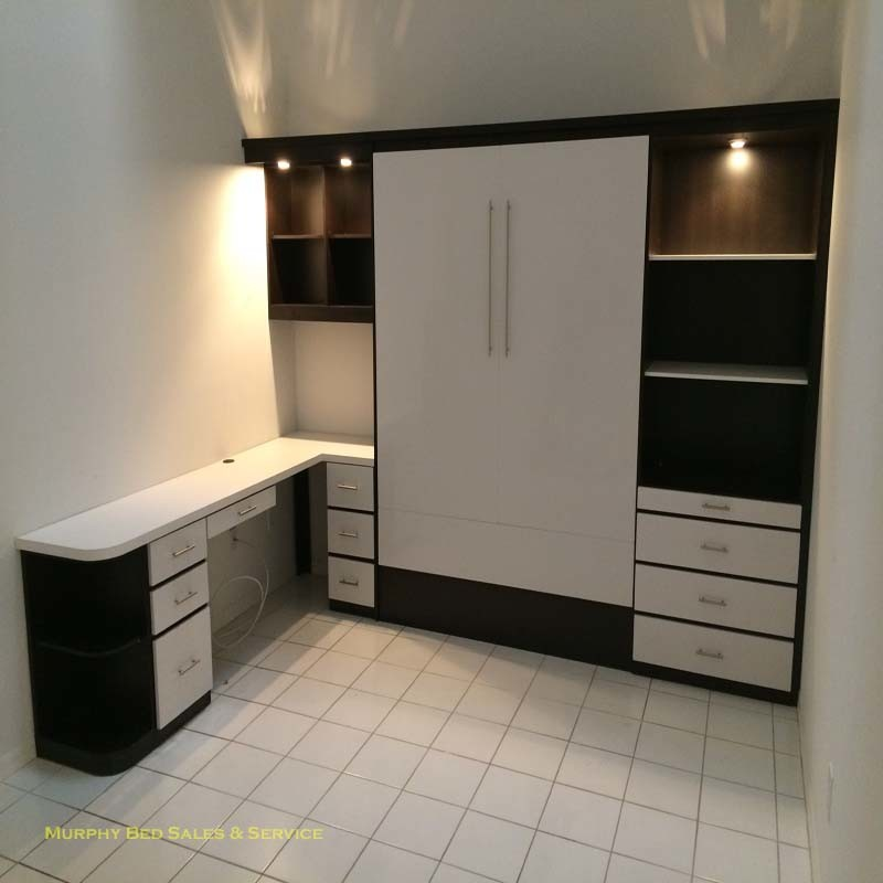 murphy bed with a desk