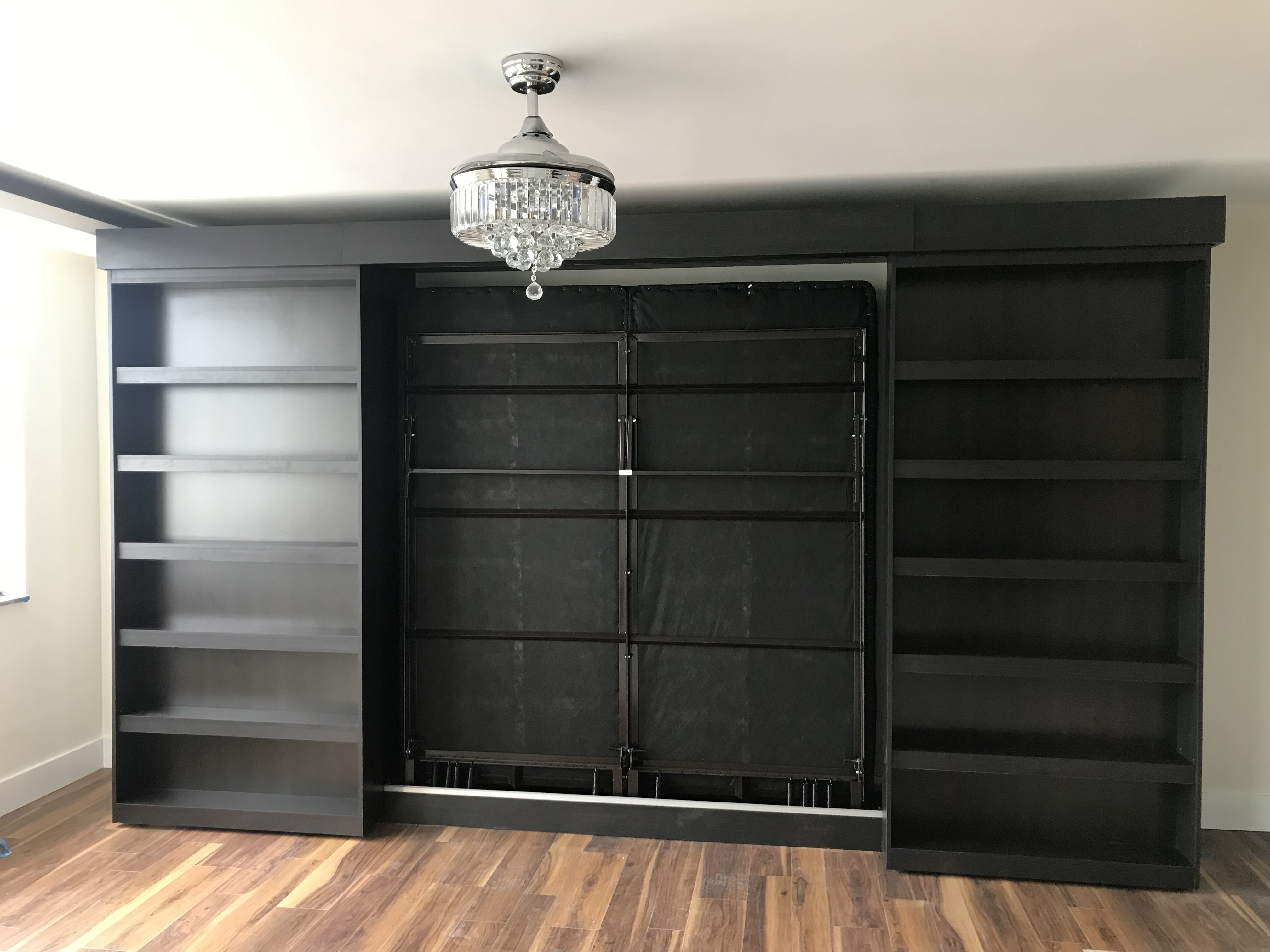king size library murphy bed